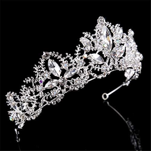 DSGYZQ Bridal Wedding Flower Crown Crown Tocado Crown Crown Diadema Accesorios para el Cabello para Las Mujeres Cumpleaños Crown Joyería,5