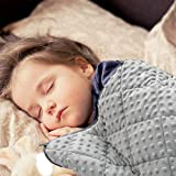 MAXTID Weighted Blanket for Toddler 1.5kg, 91x122cm for Kids About 8.5-18kg Organic Cotton Premium Kids Heavy Blanket with Glass Beads for Calming and Anxiety Relieve