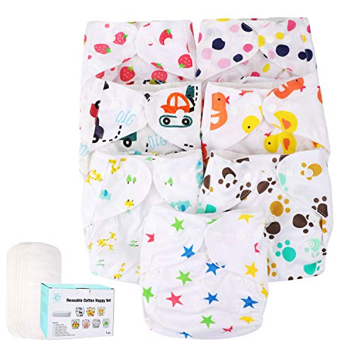 (50% OFF) Baby Cloth Diapers 7 Pack $16.99 Deal
