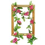 CFPacrobaticS Planta artificial para el hogar, oficina, escritorio, decoración de fiesta y 1 pieza de rosas artificiales para decoración de jardín, para fiestas, hogar, boda, decoración