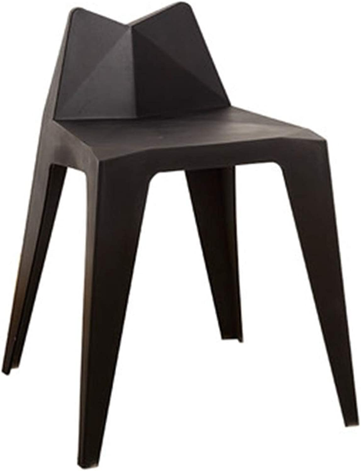 Stools Stool Plastic Chair Home Living Room High Stool Adult Dining Chair Entry Door for shoes Bench Bedroom Makeup Stool (color   Black, Size   58  35  34cm)