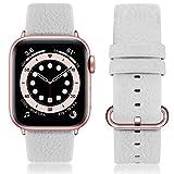 Fullmosa kompatibel Apple Watch Armband 44mm und 44mm,Leder Uhrenarmband Ersatzband für Apple Watch...