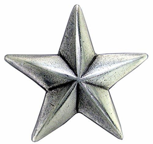 コンチョ 星 アンティーク調 合金 シルバー/18mm 通常ネジ