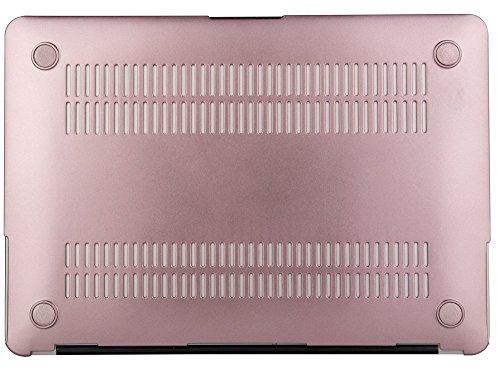 『Mosiso - MacBook Air 11インチ プラスチック ハードケース 薄型 耐衝撃 保護 シェルカバー (対応モデル:A1370 / A1465) (ローズ ゴールド)』の6枚目の画像