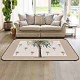 Soft Area Rugs for Bedroom Tropical Palm Tree Washable Rug Carpet Floor Comfy Carpet Kids Play Mats Runner Rug for Floor Accent Home Decor- 2'x3'