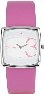 ساعة فاست تراك Nc6013Sl01-C941 لون زهري/ابيض انالوج