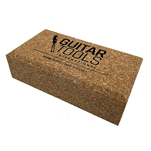 Flat Beveled Cork Sanding Block for Guitar Luthiers - Tool - Carpenter - Files - Guitar - Bodies - Wood - Furniture - Bass - Repair instruments - LCBS