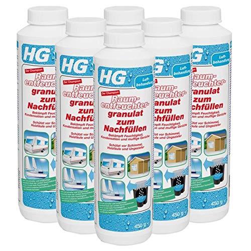 Gardopia Sparpaket - HG Raumentfeuchter-Granulat zum Nachfüllen Neutral, 6 x 450 g