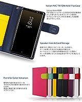 サムスン ギャラクシー ノート 8 カバー 手帳 Galaxy Note 8 ケース 手帳型ケース おしゃれ TRITON ネイビー 閉じたまま通話ケース 携帯カバー 手帳型 SC-01K SCV37 simフリー スマホ カバー スマートフォン