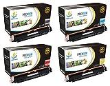 Catch Supplies Juego de 4 cartuchos de tóner HP 126A | negro CE310A, cian CE311A, amarillo CE312A, magenta CE313A | compatible con HP LaserJet Pro CP1025nw, M275, MFP M175NW