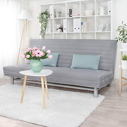 Gesteppter Bezug für IKEA Beddinge 3-er Bettsofa (Grau L32)