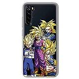 Movilshop Coque pour [ Xiaomi Redmi Note 8 / Redmi Note 8 2021 ] Officiel Dragon Ball [Goku, Vegeta,...
