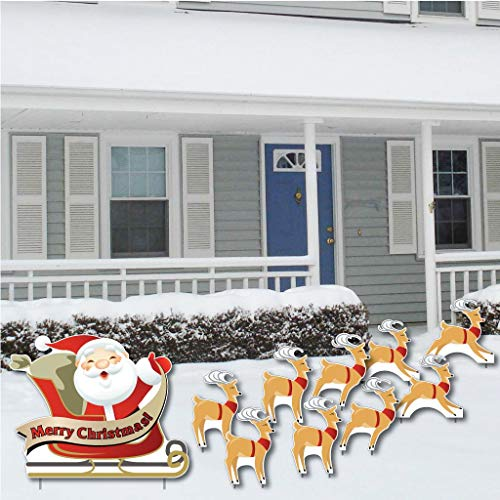 VictoryStore Yard Sign Outdoor Lawn Decorations: 'Merry Christmas'...