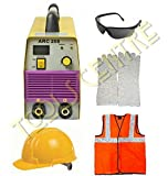 KROST New Technology Inverter Welding Machine-Arc 200 With Safety Equipments & Welding Accessories Combo.