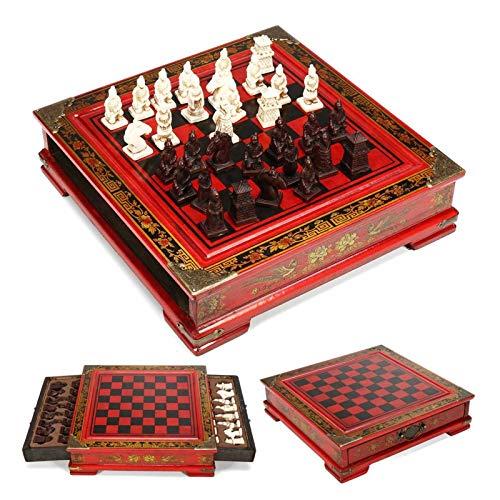 Zhice Harz Chinesisches Schach mit Kaffee Holztisch Geschenk Entertainment Board Spiel