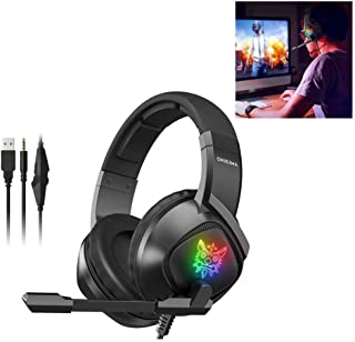3.5mm wired gaming headsets HIFI stereo sound high fidelity headphones with noise reduction and microphone for PC PS4 lapt...