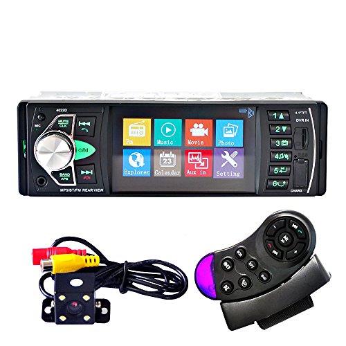 HJJH Reproductor de CD / MP3 compacto. Estéreo. Escritorio de Madera. Puerto USB. Tarjeta SD. Entrada AUX. Radio AM/FM Receptor. 12V. Vehículo Bluetooth. Reproductor de Audio. Coche. Estéreo.