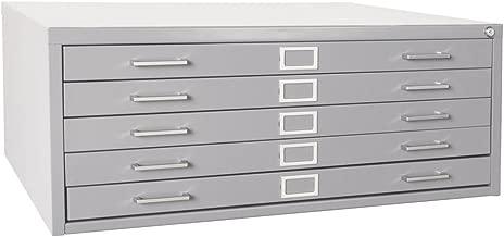 Sandusky 244879GY Heavy Duty Welded Steel 5 Drawer Flat File Storage Cabinet, 46-3/4