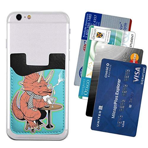 Ty De Triceratops LGBT Dinos! Telefoonkaarthouder Stick op mobiele telefoon portemonnee voor creditcard, visitekaart-ID en sleutels, telefoonvak voor alle telefoons, Eén maat, Ty The Triceratops LGBT Dinos!