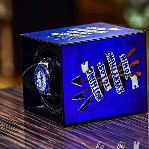 Good Shopping Caja Giratoria Relojes Watch Winder Caja de enrollador de Reloj de Pulsera Solo automático Caja de Reloj (Color : B)