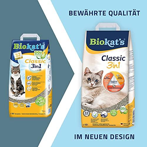 Biokat's Katzenstreu Classic 3in1, 1 Packung (1 x 10 L) - 2