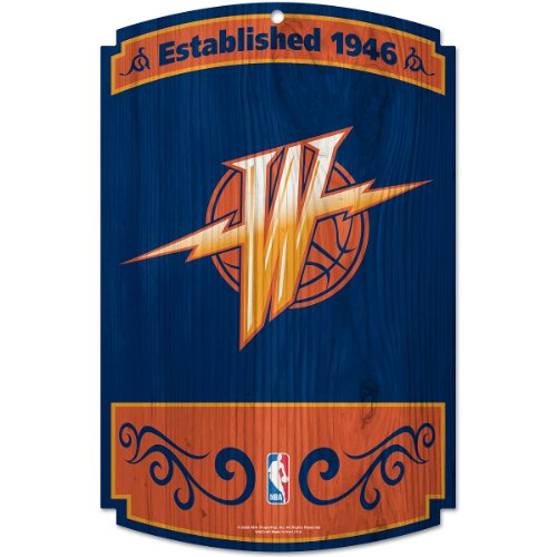 """WinCraft NBA Golden State Warriors 72519010 Wood Sign, 11"""" x 17"""", Black"""