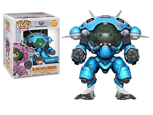 Funko Pop! Overwatch - D.Va with Meka, Blueberry, 15 CM Exclusive