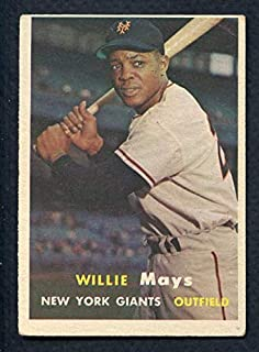 1957 Topps #10 Willie Mays Giants VG 372334 Kit Young Cards