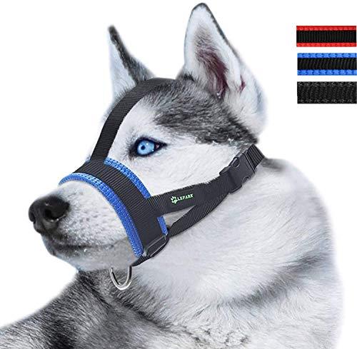ILEPARK Museruola per Cane in Nylon, per Cani di Piccolo Medio Grande, Regolabile per prevenire...