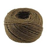 Cuerda de cáñamo de Yute Natural de 328 pies Cuerda de cáñamo Biodegradable Fuerte Gruesa decoración de jardín de casa Resistente a Las Manchas Negras-marrón