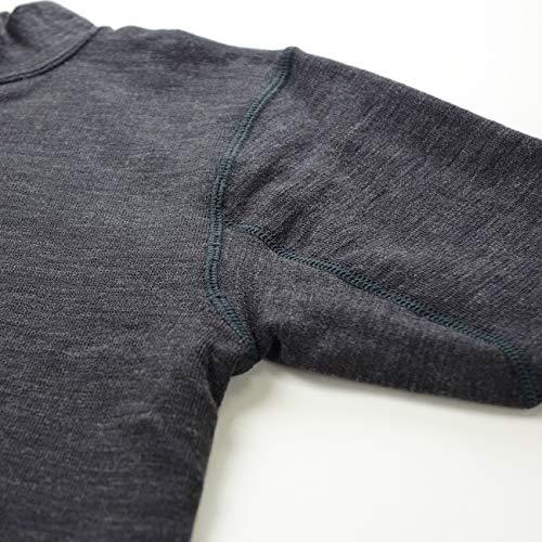 ワシオもちはだ『ホットウェアー3671ハイネックシャツ10分袖細微厚地男性用(mhm-17)』