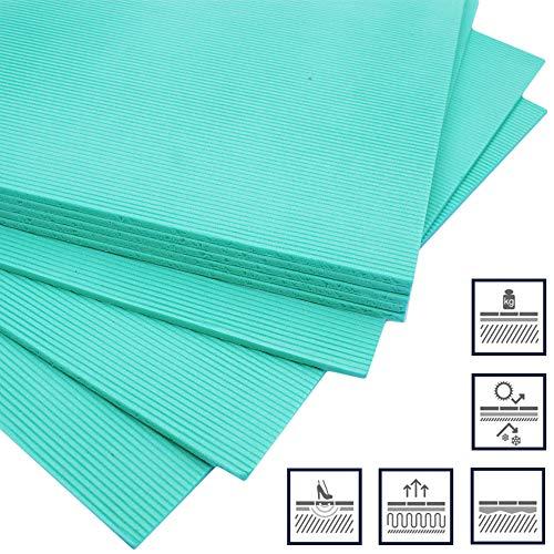20m2 - Trittschalldämmung Dämmung Boden für Laminat Parkett Vinyl - Green XPS - Stärke: 3mm