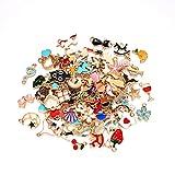 100 piezas de colgantes para hacer joyas de bricolaje mixtas de frutas animales...