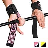 Fitself Zughilfen Herren Damen Handgelenkschutz Stabilität Lifting Straps für Fitness