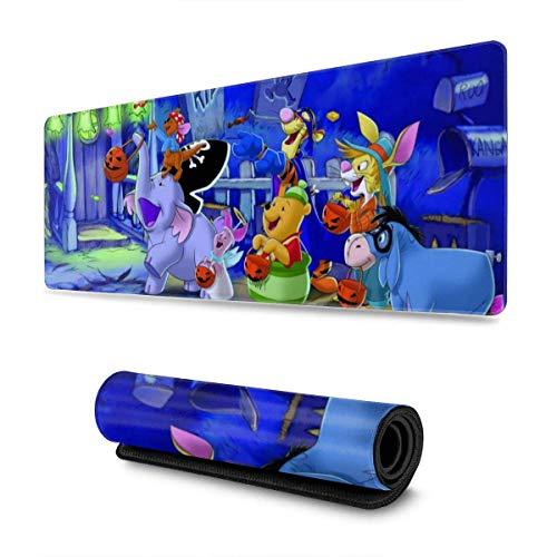 Winnie The Pooh Mouse Pad Alfombrilla de Mouse para Juegos, Alfombrilla de Mouse con Base Antideslizante para Trabajo, Juegos y Escritorio en casa, 11.8 x 31.5 Pulgadas