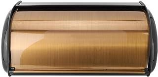 Boîte à pain grande, boîte de rangement de cuisine rétro or conteneur de bac à pain conteneur de scellage alimentaire cont...
