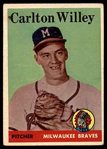 Baseball MLB 1958 Topps #407 Carl Willey VG Very Good RC Rookie Braves