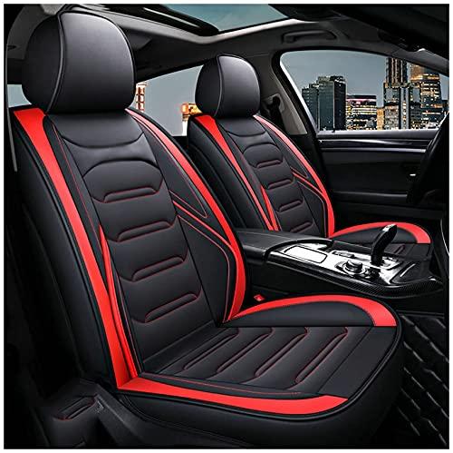 Per Audi A3 A6 Q7 Q3 Q5 Coprisedili per auto personalizzati universali Set completo Cuscini per sedili anteriori e posteriori in pelle Protezioni per seggiolini auto Accessori per interni auto,Rosso