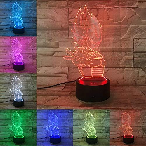 Solo 1 pieza Lámpara 3D de dibujos animados Bombilla LED Luz de noche multicolor n Regalos de vacaciones de cumpleaños Luz colgante de casco