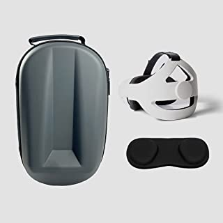 Hard Carry Case Set for Oculus Quest 2, EVA Carry case & Headset Strap & Lens Cover for Oculus Quest 2,All-in-One Carry Bag