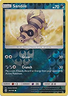 Sandile - 83/149 - Common - Reverse Holo - Pokemon Sun & Moon