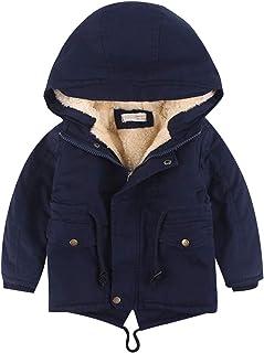 amropi Niños Chico con Capucha Anorak Invierno Chaqueta Forro Polar Cálido Abrigos por 3-10 años