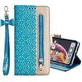 Nadoli Hülle Handyhülle für Huawei P40 Pro,PU Lederhülle Magnetverschluss Kartenfächern Standfunktion Cover Brieftasche Flip Wallet Cover für Huawei P40 Pro