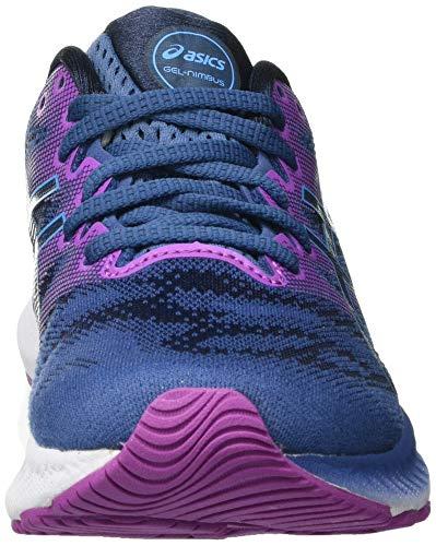 Asics Gel-Nimbus 23, Road Running Shoe Mujer, Grand Shark/Digital Aqua, 40 EU