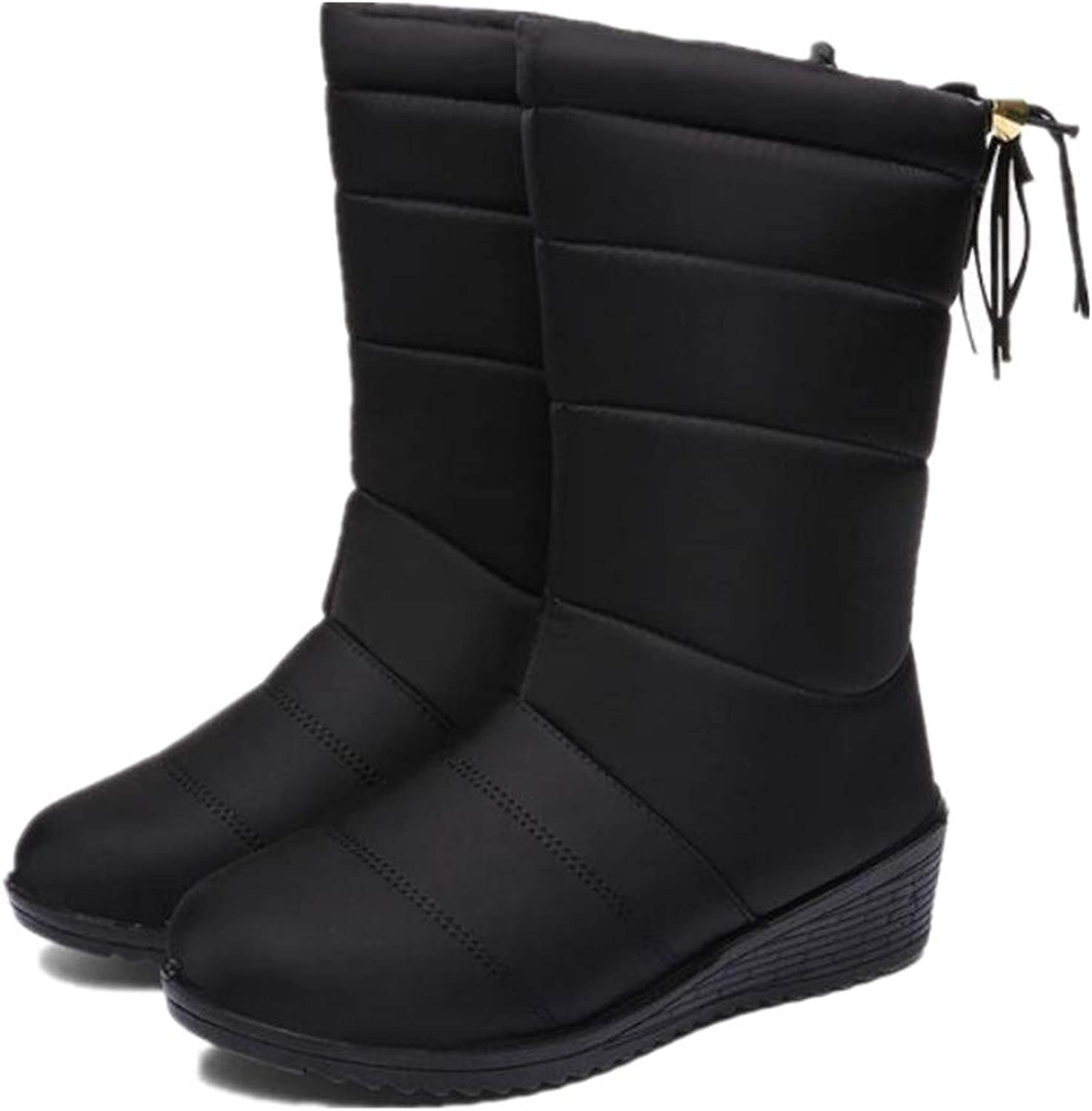 Super color Women's Snow Boots Winter Warm Ankle Booties Fur Lined Outdoor Anti-Slip shoes