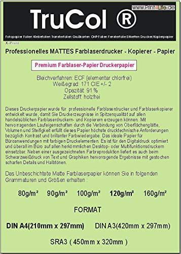 Professioneel mat papier voor kleurenlaserprinters en kleurenlaserkopieermachines, kopieerpapier, offset laserdruk S/W 120g/m² DIN A3