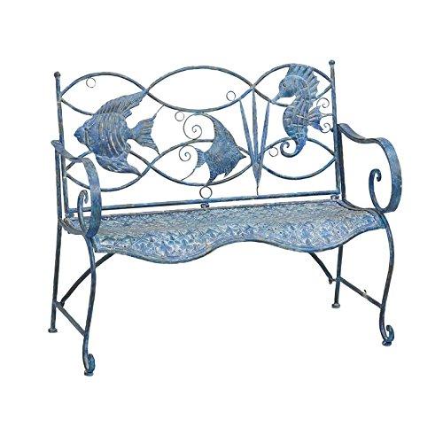 cute fish design metal bench