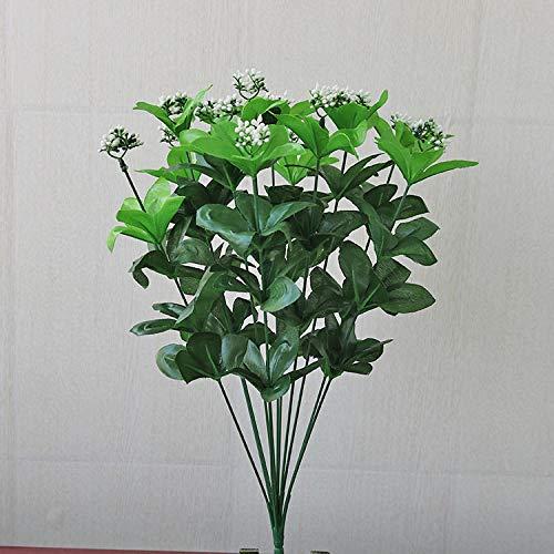 Ymwenj Künstliche Blume Simulation Pflanzensimulation Grünblattsimulation Wand Passend Zur Kunststoffpflanze Gelatine Grün @ Rhododendron