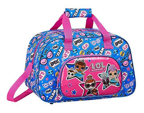 safta LOL Surprise Sporttasche 40x24x23 cm blau pink Mädchen L.O.L. Surprise! Puppen