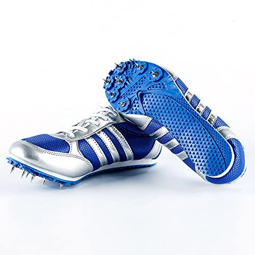 Tyfiner Spikes Zapatos Atletismo Zapatos Picos en los Exámenes de Ingreso a la Escuela Secundaria Zapatillas Deportivas de Malla Ultradensa, Transpirables y Cómodas,002,40EU